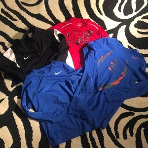 ALL 4 are yours! Boys NIKE shirt and jacket set😃